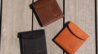 薄くてコンパクトな二つ折り財布フラットウォレット